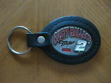 RUSTY WALLACE #2 MILLER RACING PEWTER AND LEATHER KEY CHAIN NEW NASCAR LICENSED