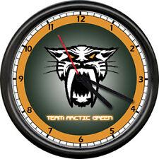 Team Arctic Cat Snowmobile Panther Orange Snow Racing Dealer Sign Wall Clock