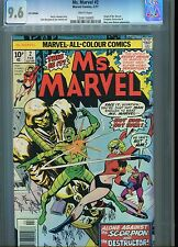 Ms Marvel #2 (Vol 1)  CGC 9.6 Marvel Comic Type 1A U.S Published U.K Pence cover