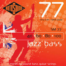 Rotosound SM77 Monel Flatwound Hybrid Bass Guitar Strings 40-100
