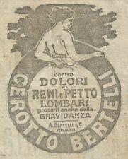 W6119 Cerotto Bertelli - Pubblicità 1916 - Advertising