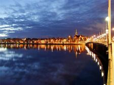 UMEA SWEDEN CITYSCAPE NIGHT PHOTO ART PRINT POSTER PICTURE BMP2335A