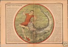 Shark Mission Catholique Cape Town Rietpoort South Africa Cap 1930 ILLUSTRATION
