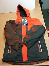 Free Country Boy's LARGE 14/16 FCXtreme Jacket 675328 Detachable Hood- Orange