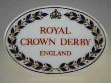 Royal Crown Derby Collection Display Sign Made in England