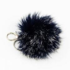 100% Real Fox Fur Hairy Pom Doll Ball Decor Handbag Keychain Accessories