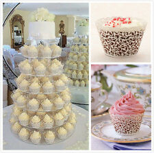 120pack x Filigree Lace Cup Cake Cupcake Wrappers Wraps Liners Wedding Party FD