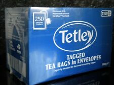 250 TETLEY TAGGED TEA BAGS IN ENVELOPES FOR HOTEL GUEST HOUSE B&B ETC