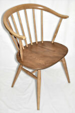 Set of 4 Vintage Retro 60's Ercol Windsor Cowhorn Chairs