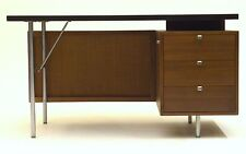 Vintage Executive desk by George Nelson for Herman Miller black lacquer Walnut