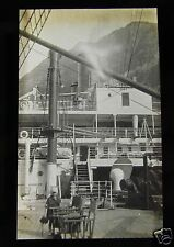 Glass Magic lantern slide SS ORONSAY ORIENT LINE OCEAN LINER ON DECK C1925 SHIP