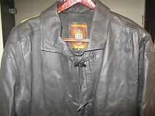 MEN'S LEATHER JACKET BY IOU LEATHER COLLECTION - BLACK - MED - HEAVY