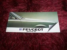 Catalogue / Brochure PEUGEOT Gamme / Full line 1983 //