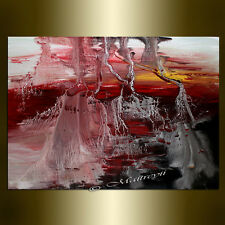 ORIGINAL painting red ABSTRACT ART Canvas Art Contemporary Paintings wall Art