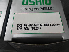 USHIO Halogen MR-16 LAMPS 50W 12V EXZ/FG/5300K  Whitestar  LOT of 36 pcs