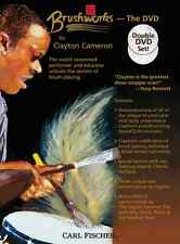 """""""BRUSHWORKS-DOUBLE DVD SET"""" PERCUSSION/DRUM INSTRUCTION BRAND NEW ON SALE SEALED"""