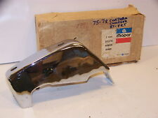 1975 76 77 78 DODGE CHARGER CHRYSLER CORDOBA RH FRONT BUMPER GUARD NOS #3835192