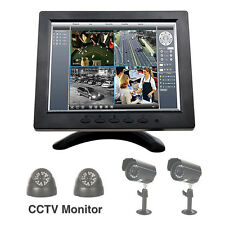 "8"" inch TFT LCD CCTV Monitor PC HD Color Screen VGA/ AV/BNC/HDMI Video Display"