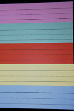 Sentence Strips ~ Pack of 20 Strips ~ 3in x 11.8in ~ Assorted Colours.