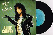 "ALICE COOPER - BED OF NAILS - 7"" 45 VINYL RECORD w PICT SLV - 1989"