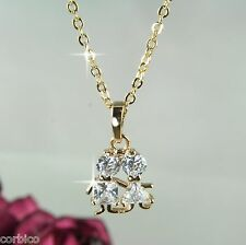 N4 18K Gold Plated Boy and Girl Children Crystal Necklace & Pendant - Gift boxed