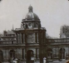 Entrance to Palace of Luxembourg, Paris, France, Magic Lantern Glass Slide