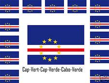 Assortiment lot de10 autocollants Vinyle stickers drapeau  Cap-Vert-Cap-Verde