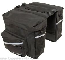 Axiom Appalachian 20L DOUBLE PANNIER rear BICYCLE bike sack black bag