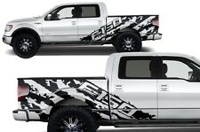 Vinyl Decal Graphics F-150 SHREDS Wrap Kit for 2009-2014 Ford F-150 Matte Black