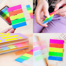 100 Fluorescen transparent Sticker Bookmark Marker Memo Flags Tab Sticky Notes