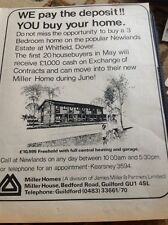67-3 Ephemera 1974 Advert Houses For Sale Newlands Estate Whitfield Dover
