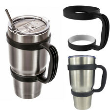 Black Handle for 30 Oz YETI Tumbler Rtic Cup Holder Travel Drinkware Rambler IAS