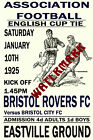 BRISTOL ROVERS - VINTAGE 1920's STYLE MATCH POSTER