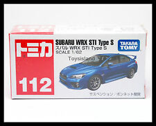 TOMICA #112 SUBARU WRX STI TYPE S 1/62 TOMY 2015 JULY NEW MODEL DIECAST CAR