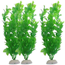 "10""  Fish Tank Aquarium Decor Green Artificial Plastic Underwater Grass Plant"