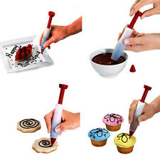 Silicone Cake Pastry Cookie Icing Decorating Syringe Cream Chocolate Plate Pen