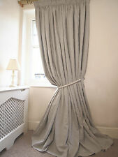 """NEW! 3 Pairs AVAILABLE Pure Linen Lined Interlined Massive 103""""D 134""""W CURTAINS"""