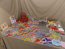 Huge Lot Vintage Doll Hangers Bottles Luggage Glasses Curlers Bracelets Bibs ++