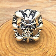 Jewelry Fashion 316l stainless steel Retro Punk design Skull ring US size10 Z41