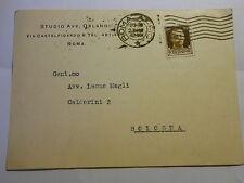 Cartolina Commerciale Avv. Orlandi Roma a Avv. Magli Bologna 1942 (180)