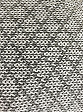 "Monochrome ""Knitting Stitch"" Effect  Print  Stretch Jersey Dressmaking Fabric"