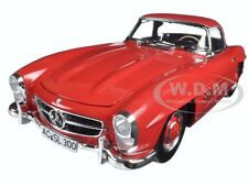 1957 MERCEDES 300 SL W198 RED W HARD TOP LTD 600pc 1/18 BY MINICHAMPS 180039041