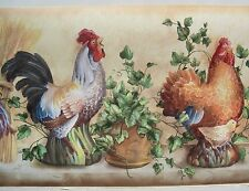 ROOSTERS , CHICKENS & CHICKS Wallpaper Border 10 1/4""