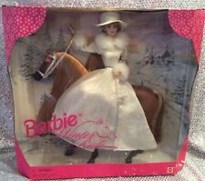 BARBIE WINTER RIDE GIFT SET BARBIE DOLL + HORSE MATTEL 19850  1998 NRFB MINT