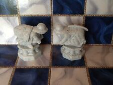 HARRY POTTER Wizards Chess Game Replacement Piece 2002 LOT of Two(2) WHITE PAWNS