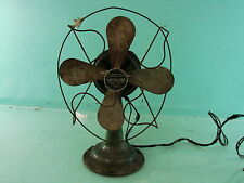 Vtg Handy Fan Art Deco Turn of the Century Chicago Electric Mfg Co. Desk Table