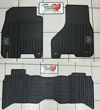 2013-2017 Dodge Ram Crew Cab Front & Rear All Weather Slush Floor Mat Mopar OEM