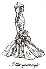 CREATIVE EXPRESSIONS Cut Mounted SINGLES Stamps FISHTAIL FROCK I Like your Style