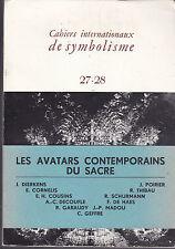 Cahiers Internationaux de Symbolisme  Les avatars contemporains du sacré aux USA