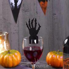Halloween Decoraciones De Cristal x10-Partido accesorios de la mano espeluznantes con garras/tarjetas de lugar